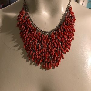 Vintage Coral Necklace with extender